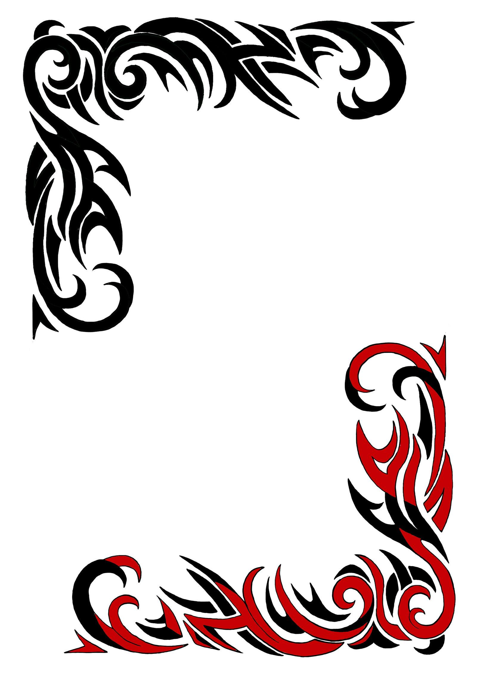 Tattoo Border Designs - Cliparts.co