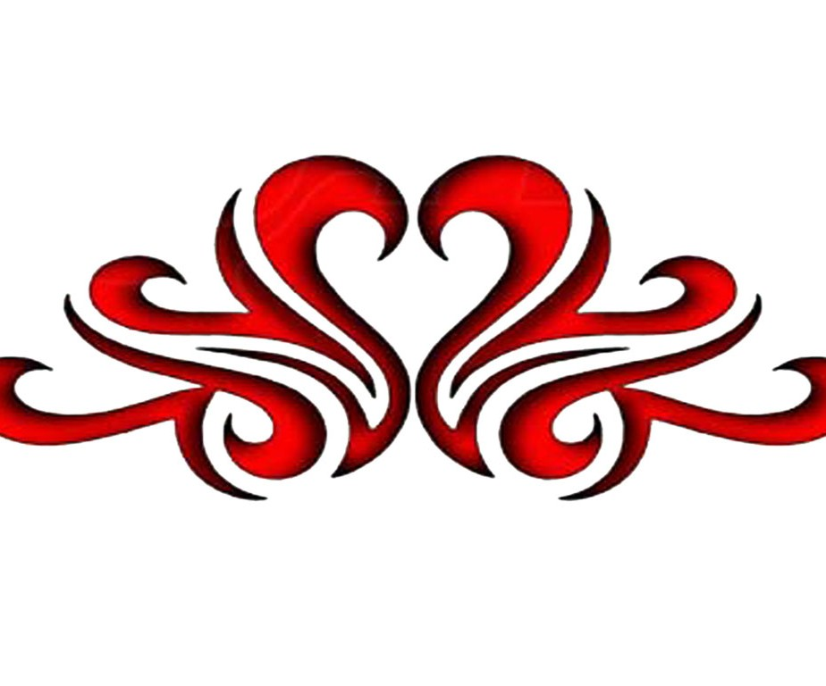 Tribal Red Hot Heart Band - Valentine Tattoo Design | TattooTemptation