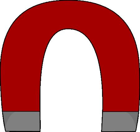 Horsehoe Magnet Clip Art - Horsehoe Magnet Vector Image