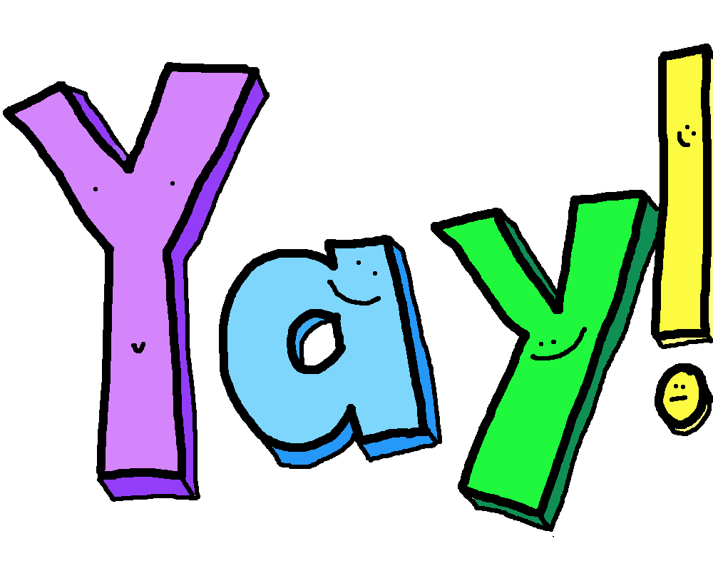 yay you did it clipart rh worldartsme com yay it's monday clipart yay us clipart