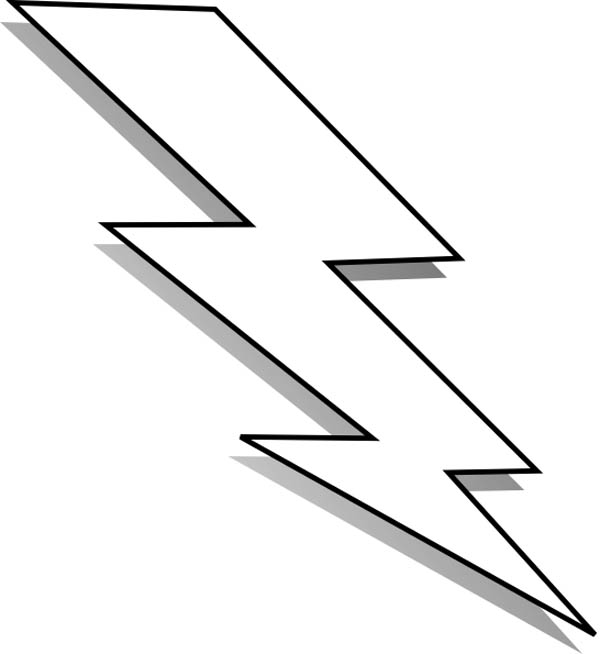 Printable lightning bolt for Lightning link template