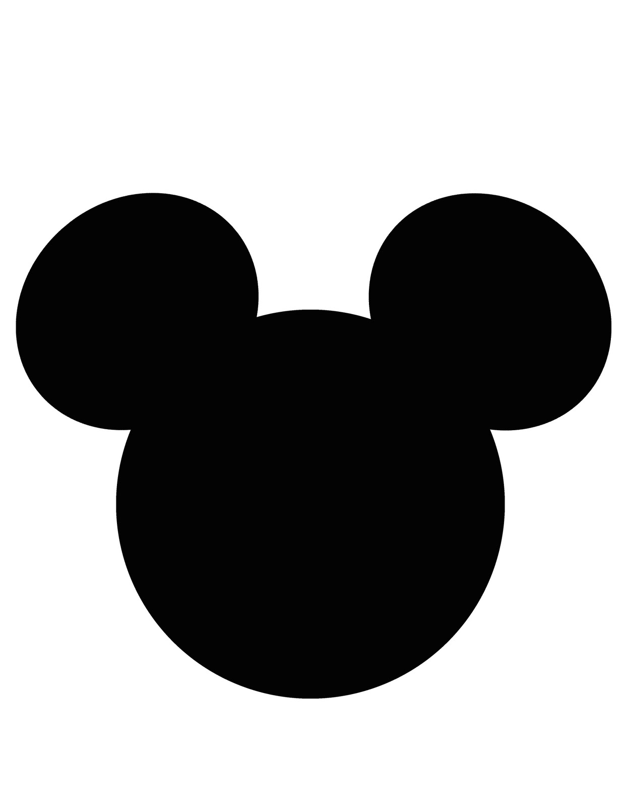Mickey Mouse Ear Template - Cliparts.co