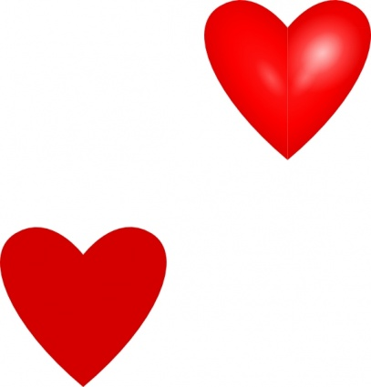 Red Heart Graphic - Cliparts.co