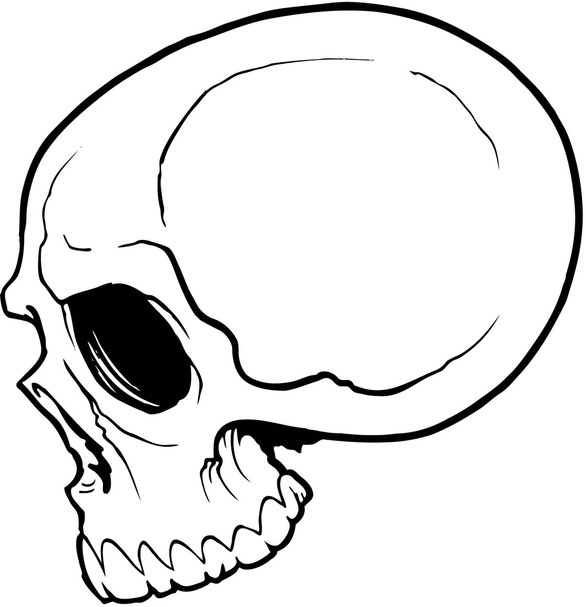 Skull Line Drawing Easy : Skull drawing images cliparts
