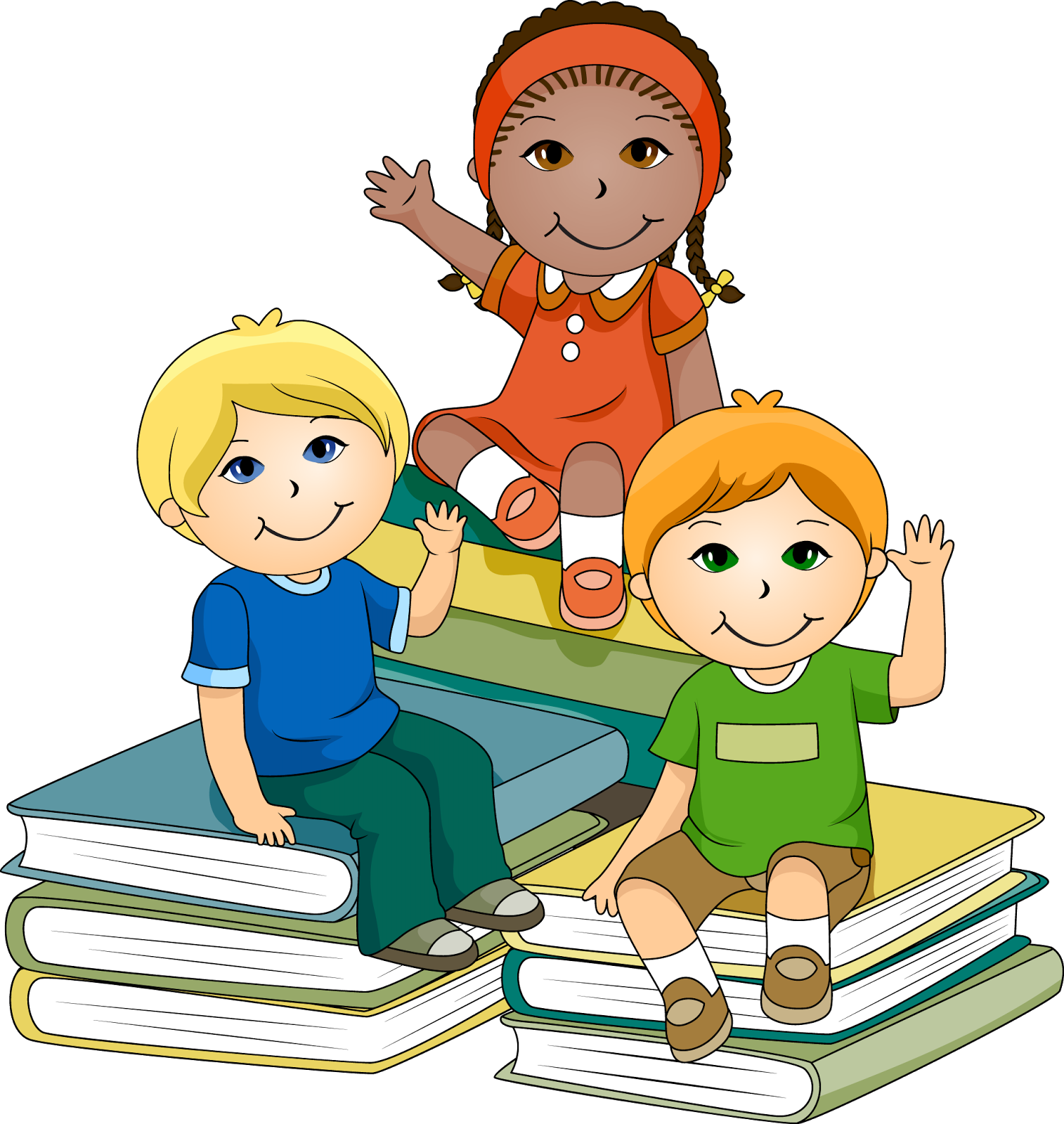 Children Reading Books Pictures