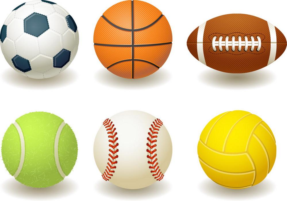 balls sports clipart cliparts ball sport football basketball vector baseball six team soccer