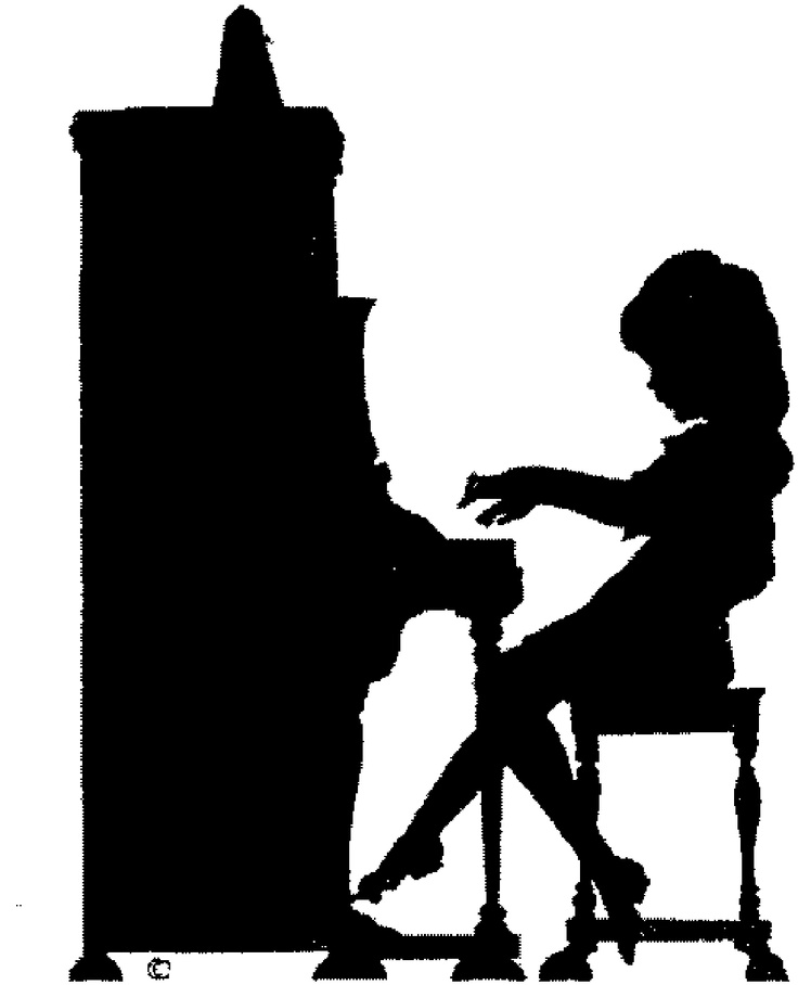 Playing Piano Clipart  Upright Piano Clip Art Black And White