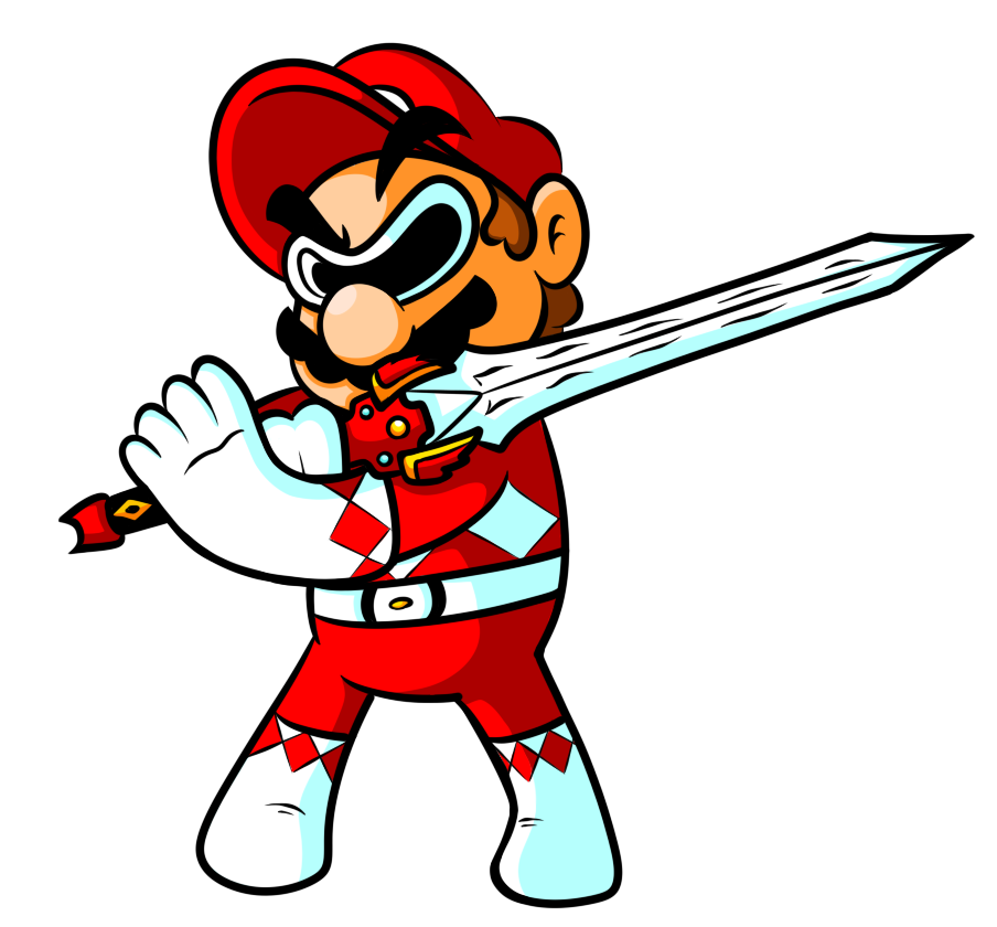 Commission - Power Ranger Mario by JamesmanTheRegenold on deviantART