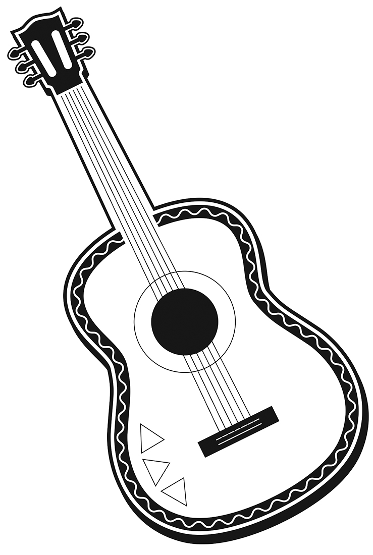 Guitar Clipart Black And White - Cliparts.co