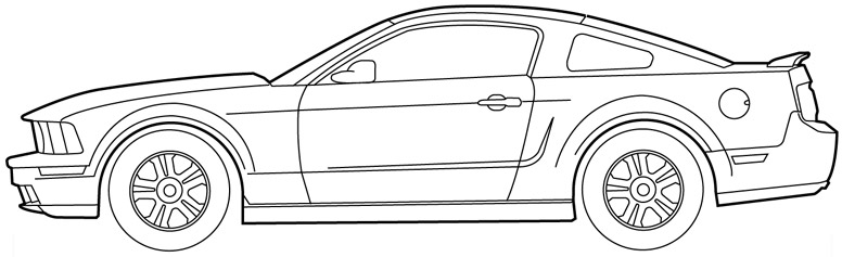 Outline Drawing Of Drift Cars - Cliparts.co