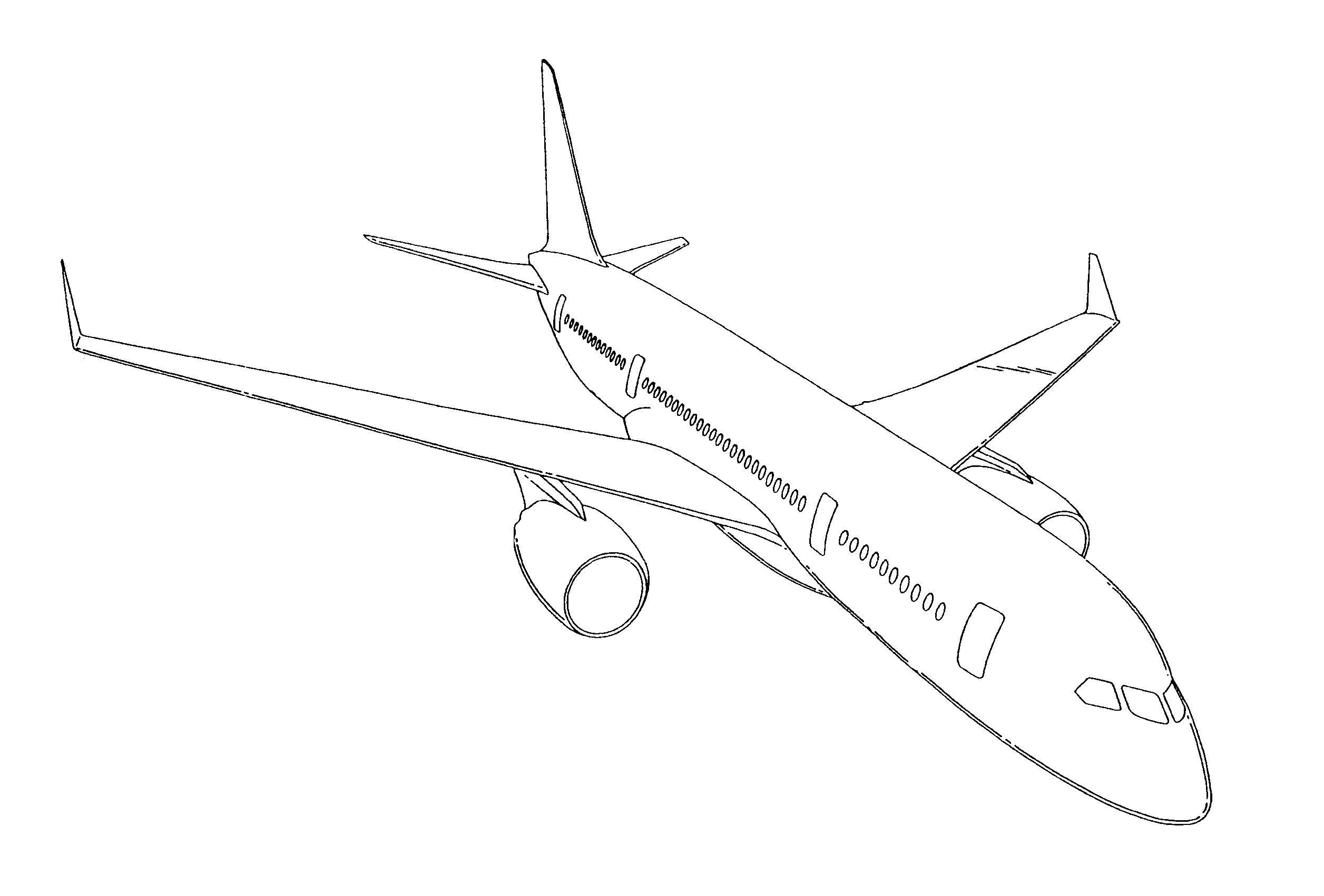 Drawing Lines In Qt : Airplane drawing cliparts