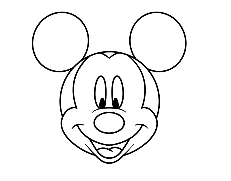 Line Art Mickey Mouse : Minnie mouse head outline cliparts