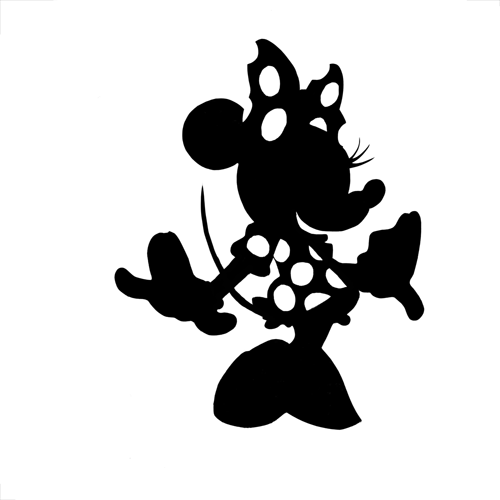 Minnie Mouse Silhouette - Cliparts.co