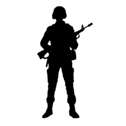 Soldier Silhouette 1 A Image By P8w8 Roblox Updated