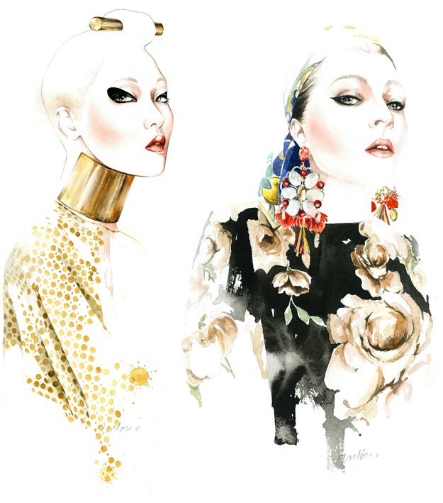 FASHION ILLUSTRATIONS (2) by ANTONIO SOARES / FALL WINTER 2013 ...