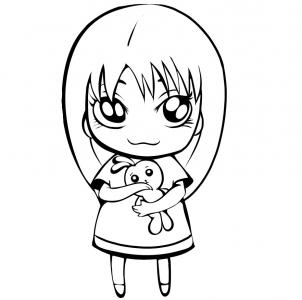 How To Draw A Cute Girl Step By Step Figures People Free