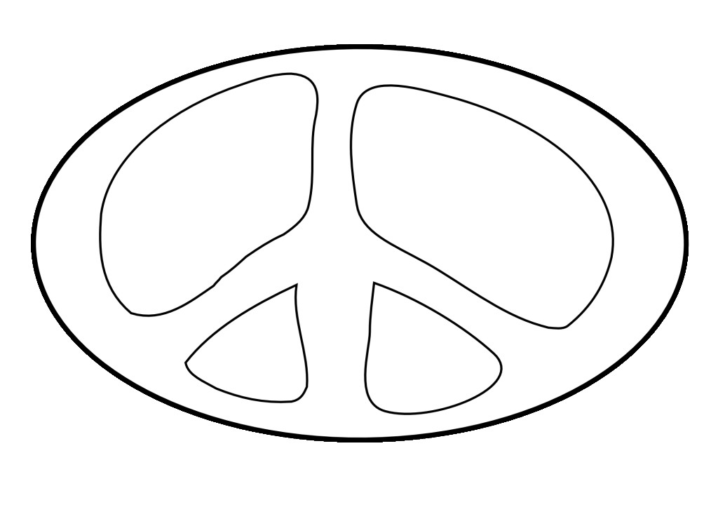 Zebra Peace Sign Coloring Pages Peace Sign Coloring Pages