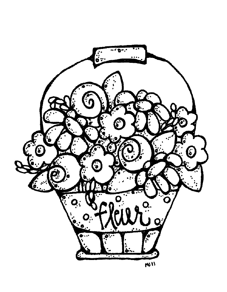 Bouquet Of Flowers Drawing
