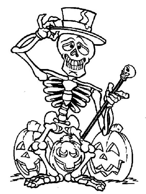 pictures of halloween skeletons