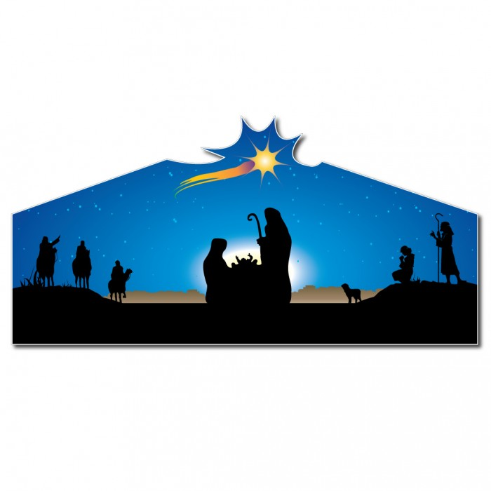 "Christmas Nativity ""Large Star"" Lawn Display Decoration – 4'"