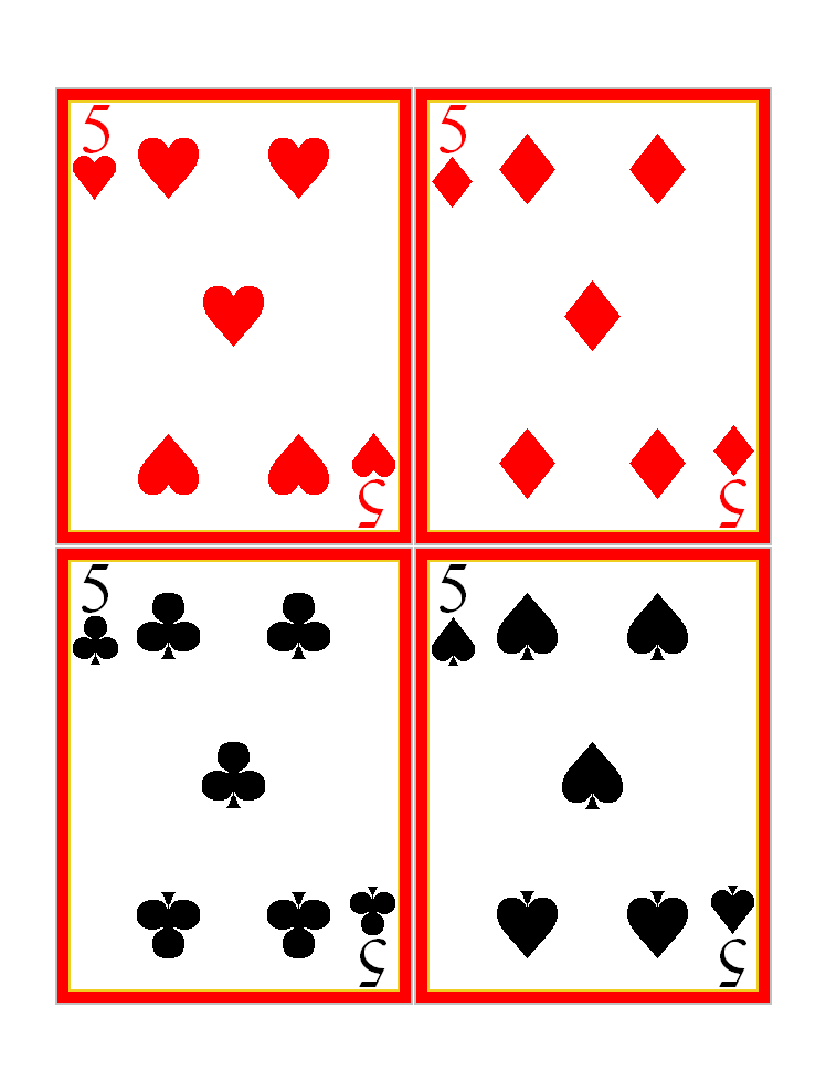 Nifty image intended for playing cards printable