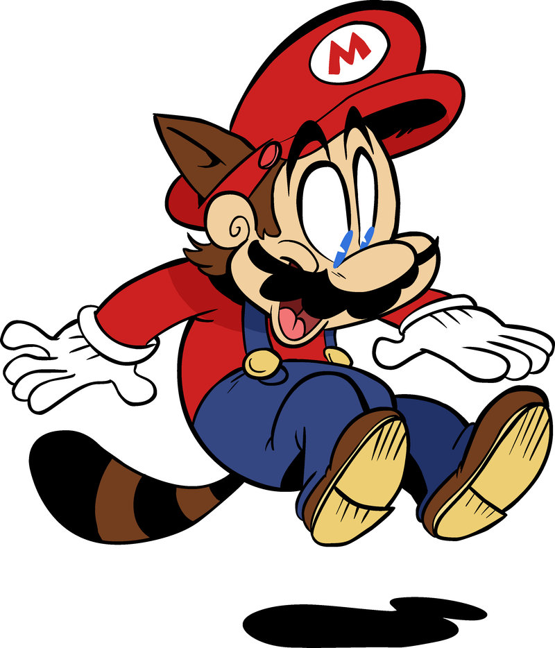 Raccoon Mario by TVsKyle on deviantART