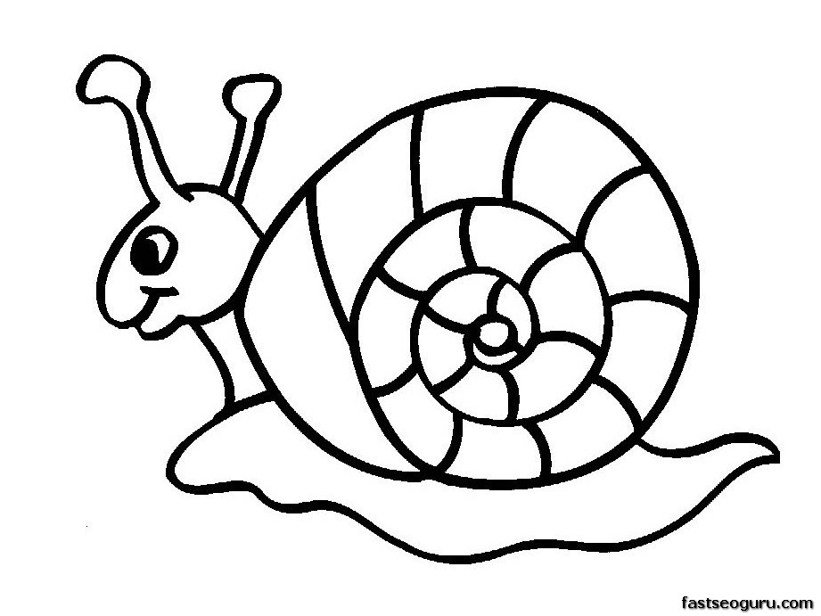 Cartoon Snails Cliparts Co Coloring Pages For 7 And Up Printable
