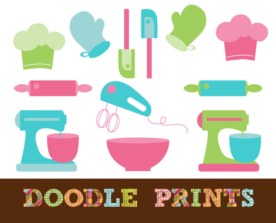Gallery For > Cooking Utensils Border Clip Art