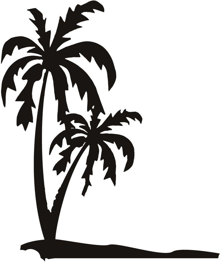 silhouette date palm tree - photo #30