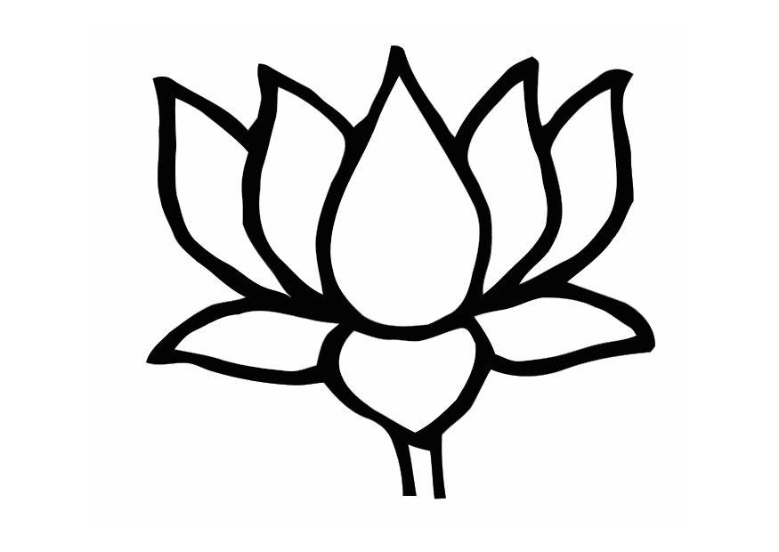 Cute Flower Line Drawing : Simple lotus flower drawing cliparts