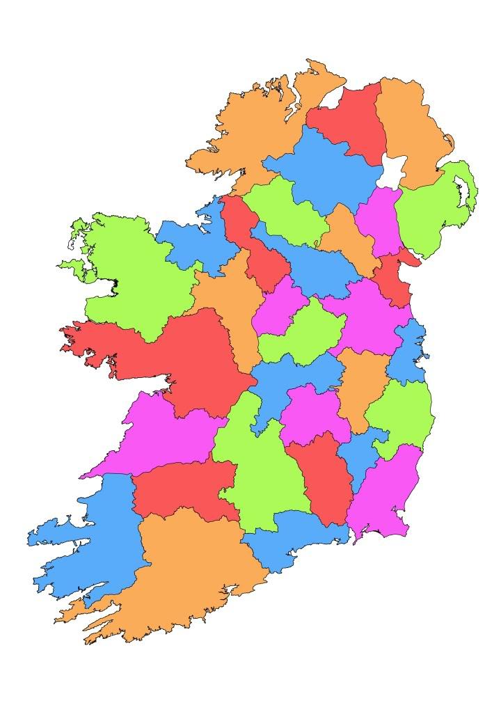 Ireland Clip Art Clipartsco: Irish County Maps At Slyspyder.com