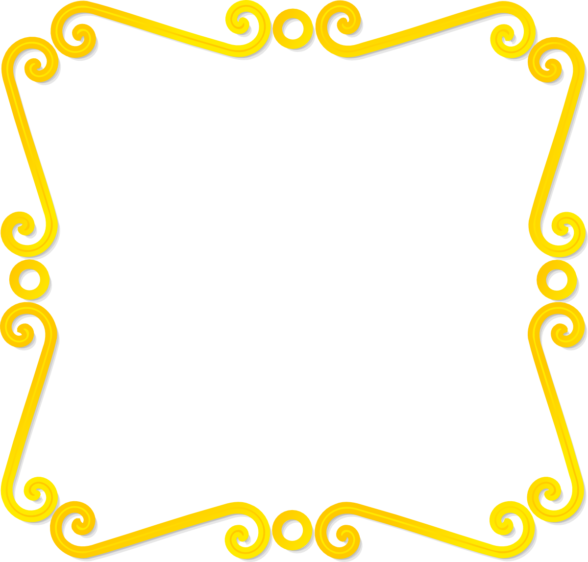 Fancy metallic gold border
