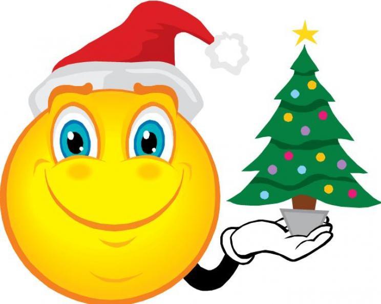 clip art christmas smiley face - photo #1