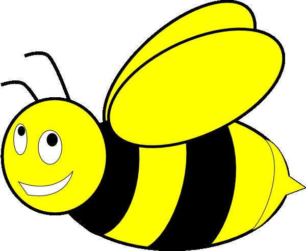 Black And Yellow Honey Bee clip art - vector clip art online ...
