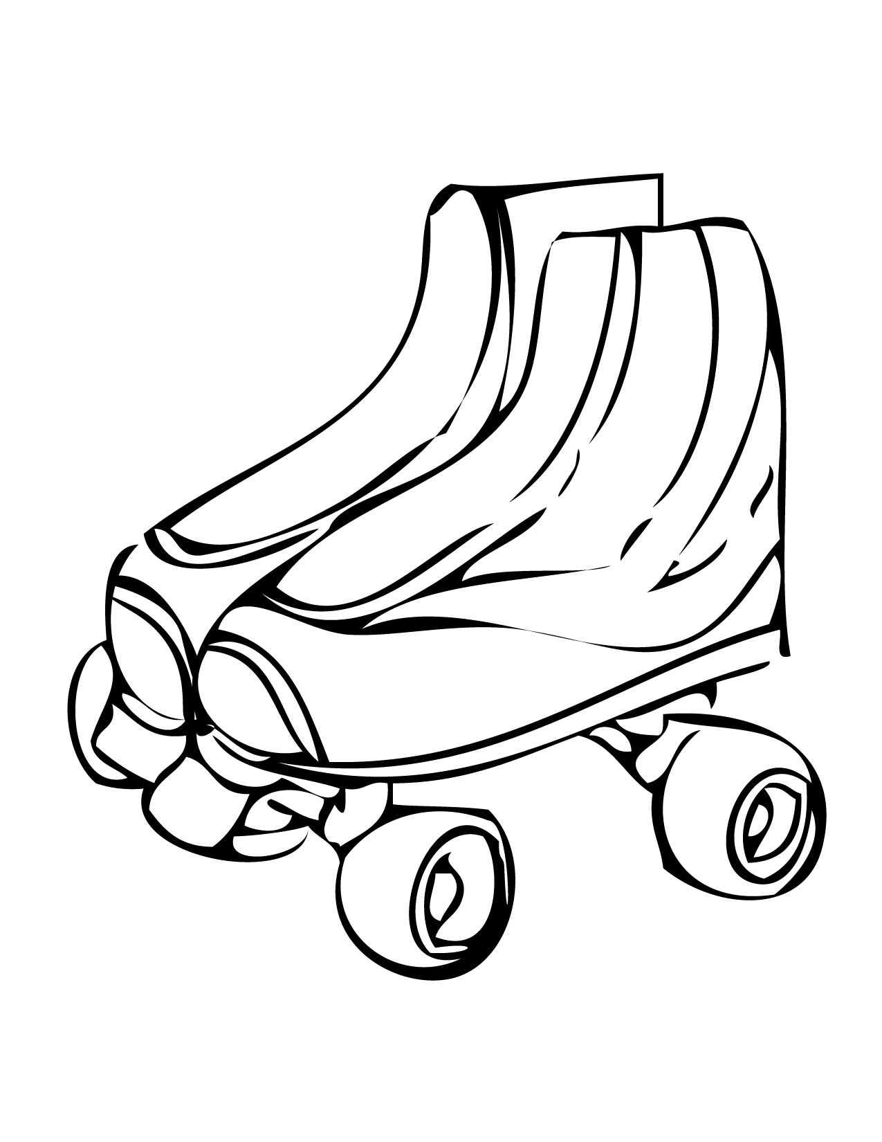 Roller Skate Clipart - Cliparts.co