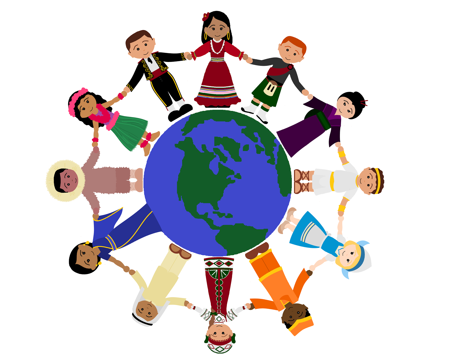 Kids Holding Hands Around The World Clipart Images & Pictures - Becuo