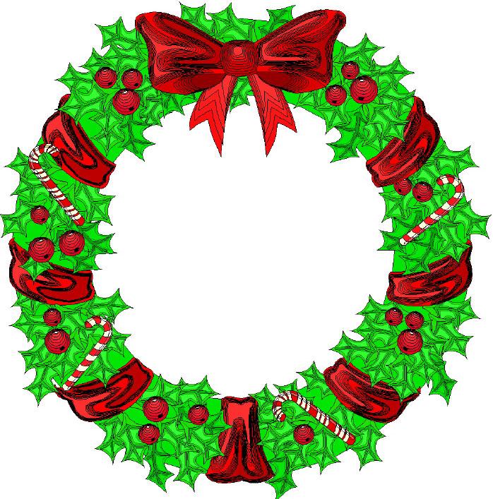 free clip art holiday garland - photo #35