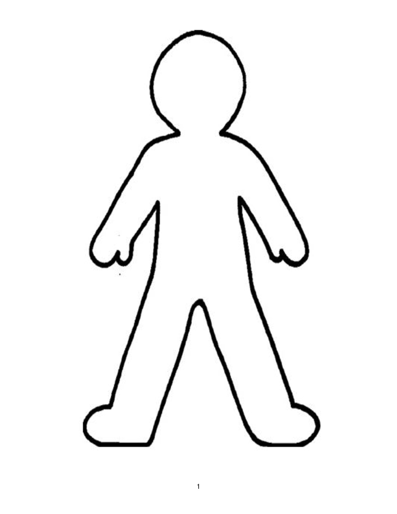 person outline coloring page clipartsco