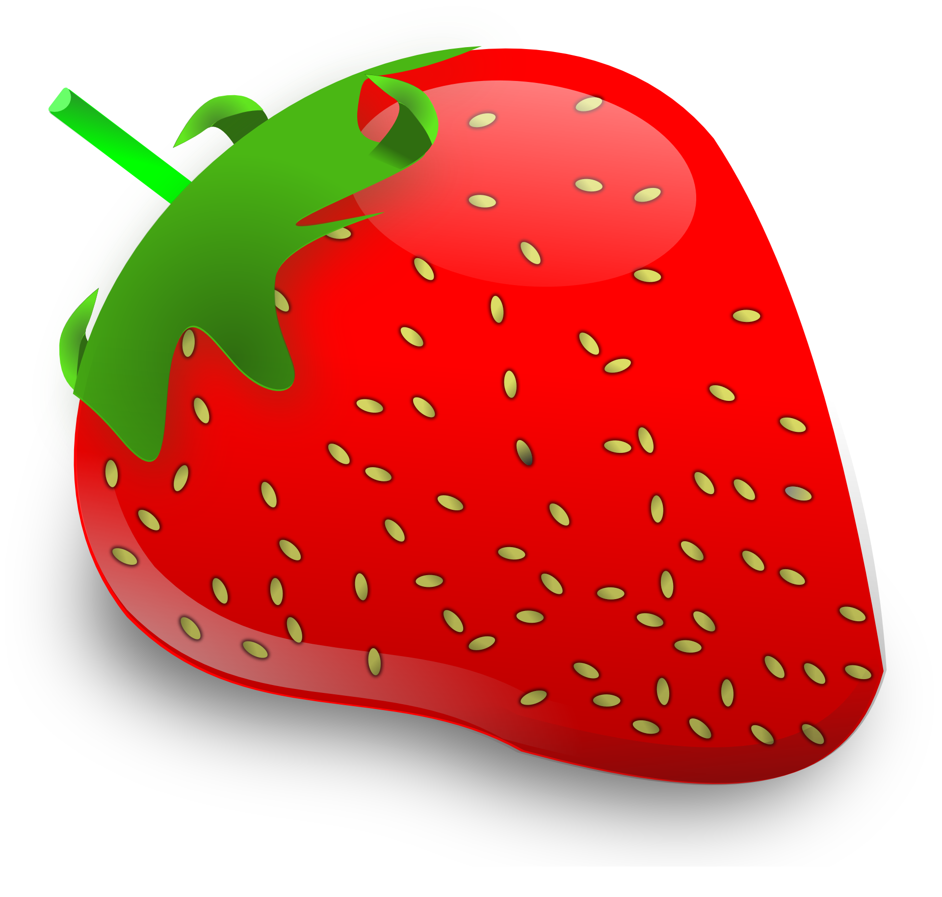 Clipart Of A Strawberry