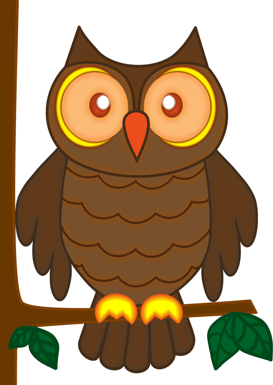 Cartoon owl clip art for A cartoon owl