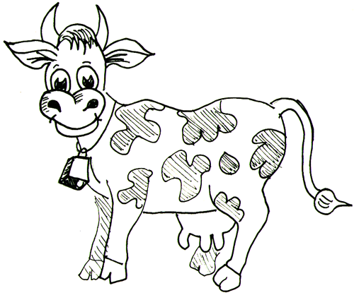 Line Drawing Cow Face : Farm animal drawings cliparts