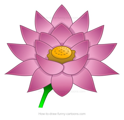 How To Draw A Lotus Flower Easy Flowers Healthy