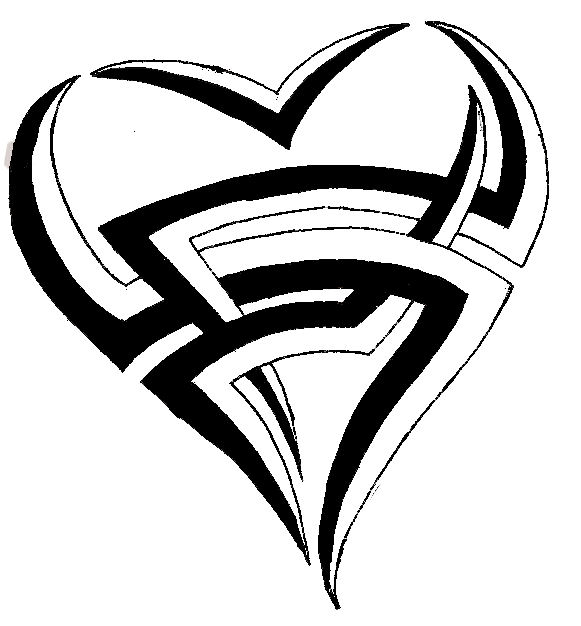 Drawings Of Tribal Hearts Tribal Heart Drawing Images