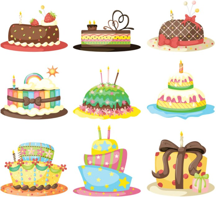 Cake Pictures Vector : Birthday Cake Cartoon - Cliparts.co