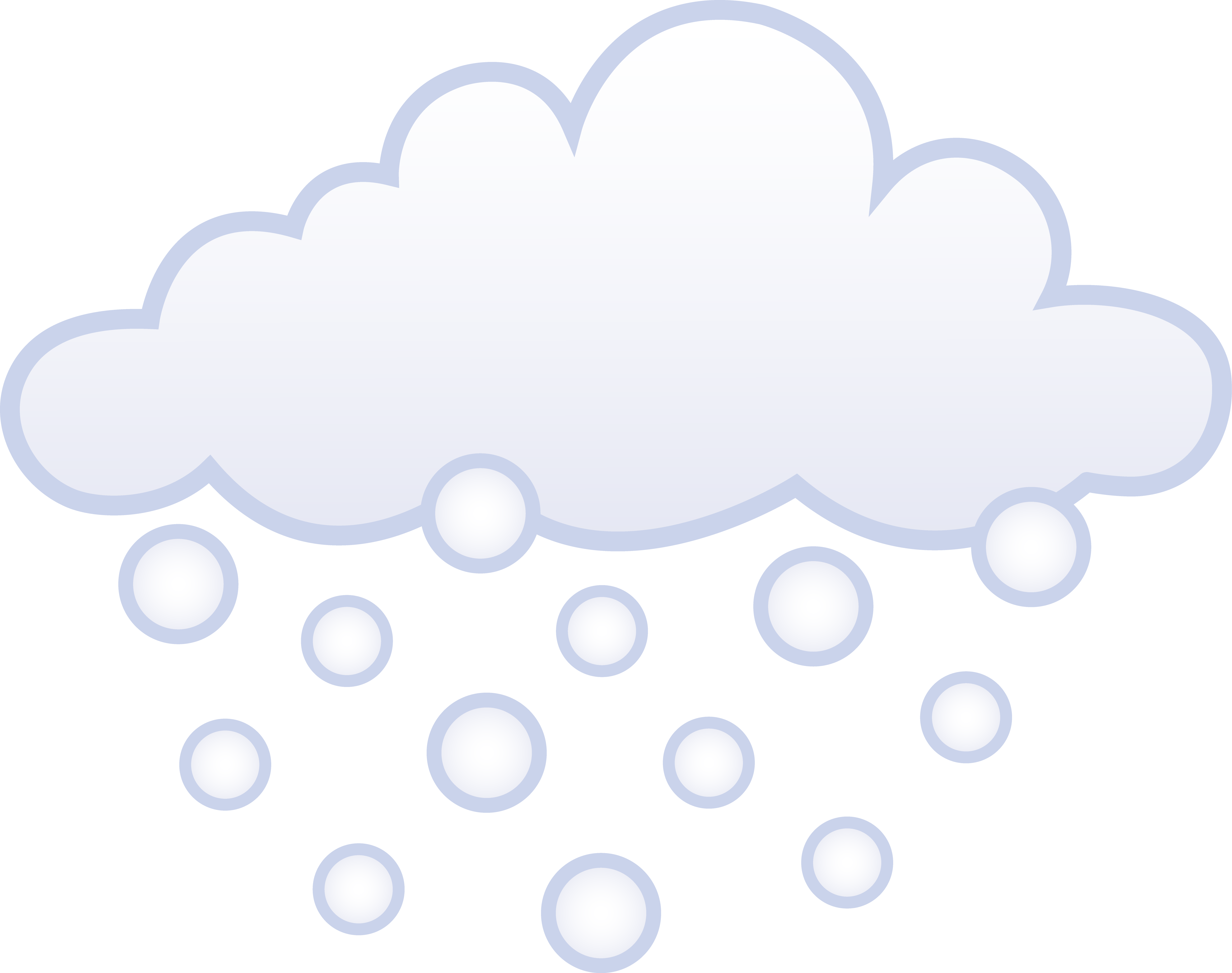 Snowing White Winter Cloud - Free Clip Art