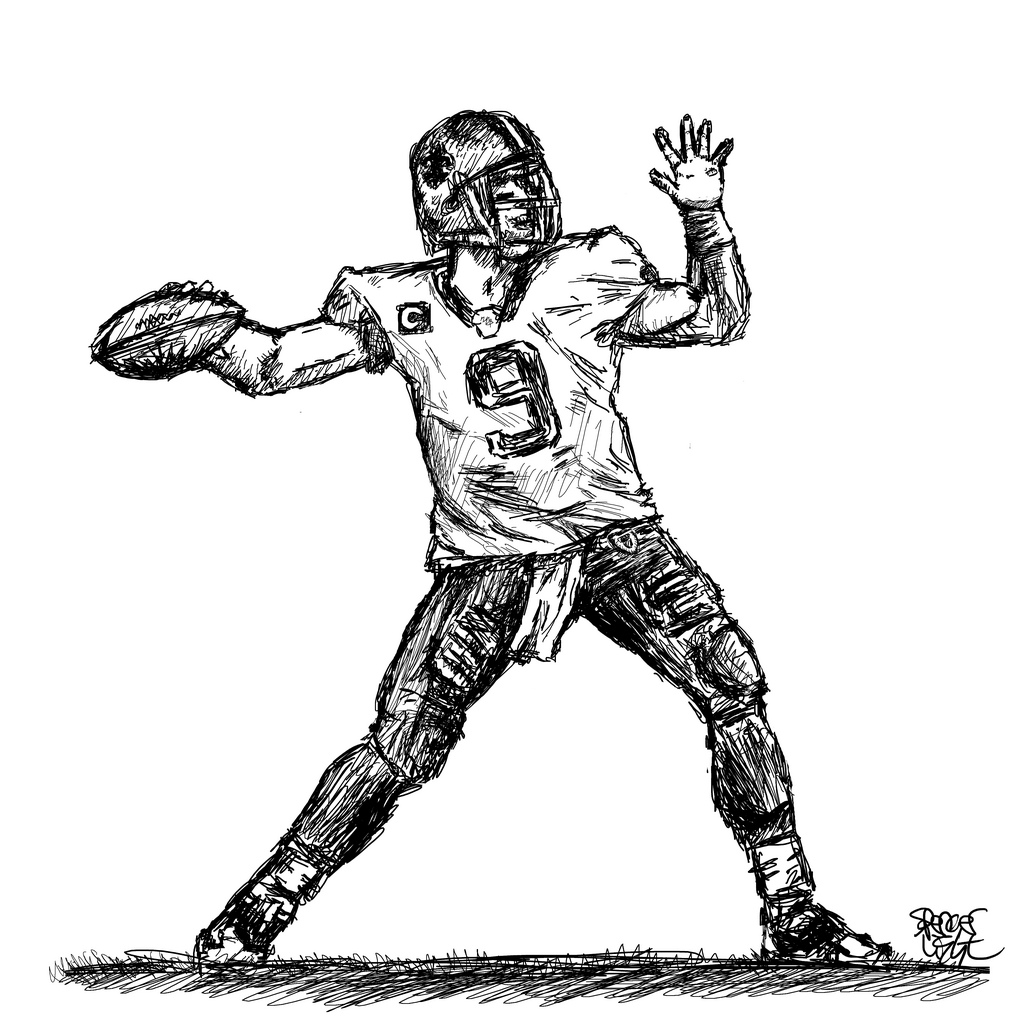 American football drawing