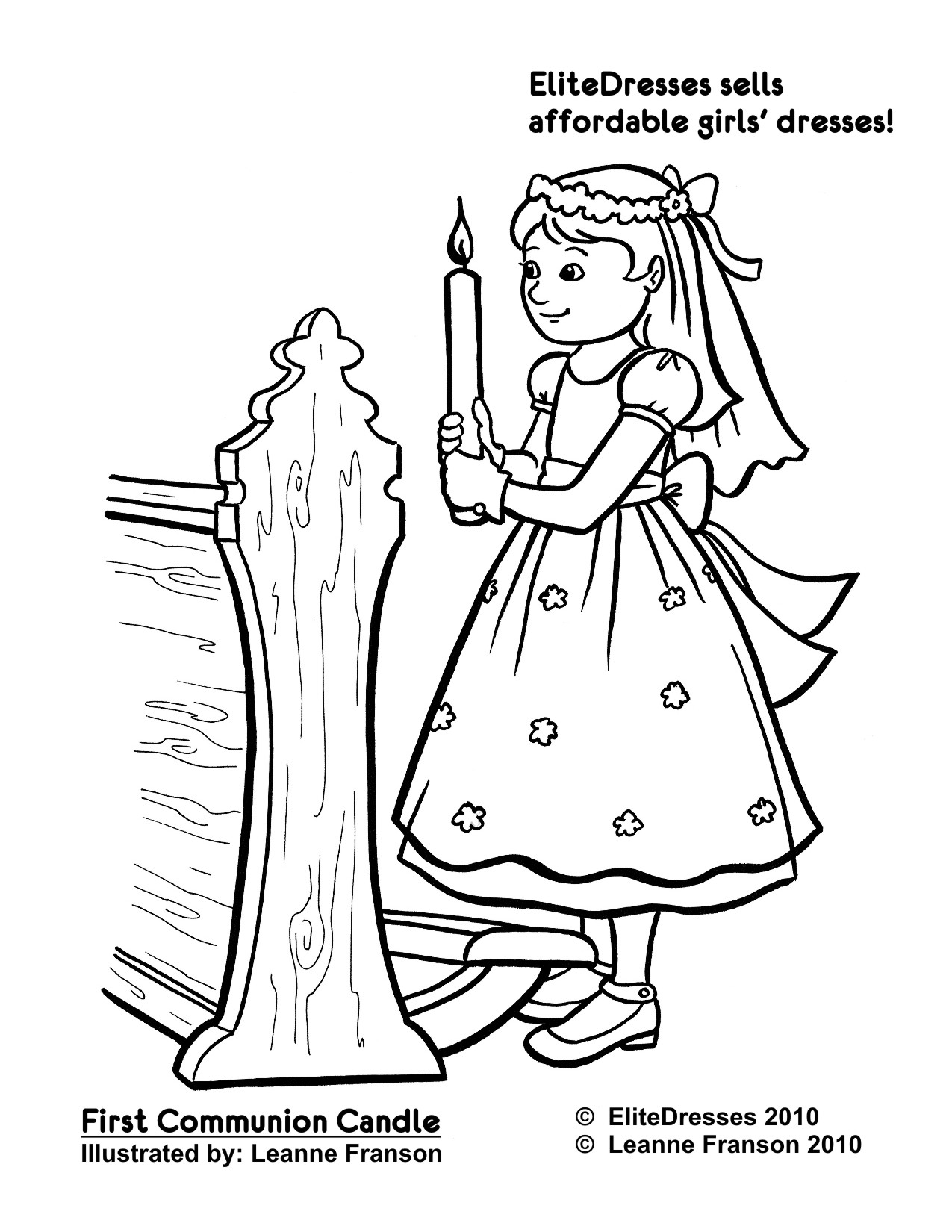 first communion coloring pages | First Communion Picture Black And White - Cliparts.co