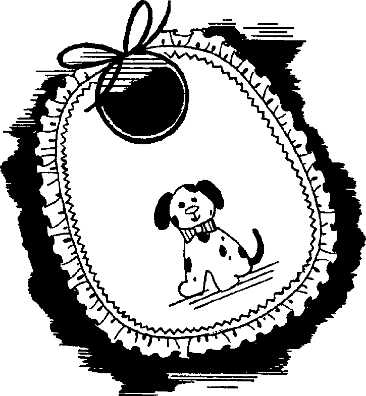 Baby Bib Clipart Black And White Clipart practica technical