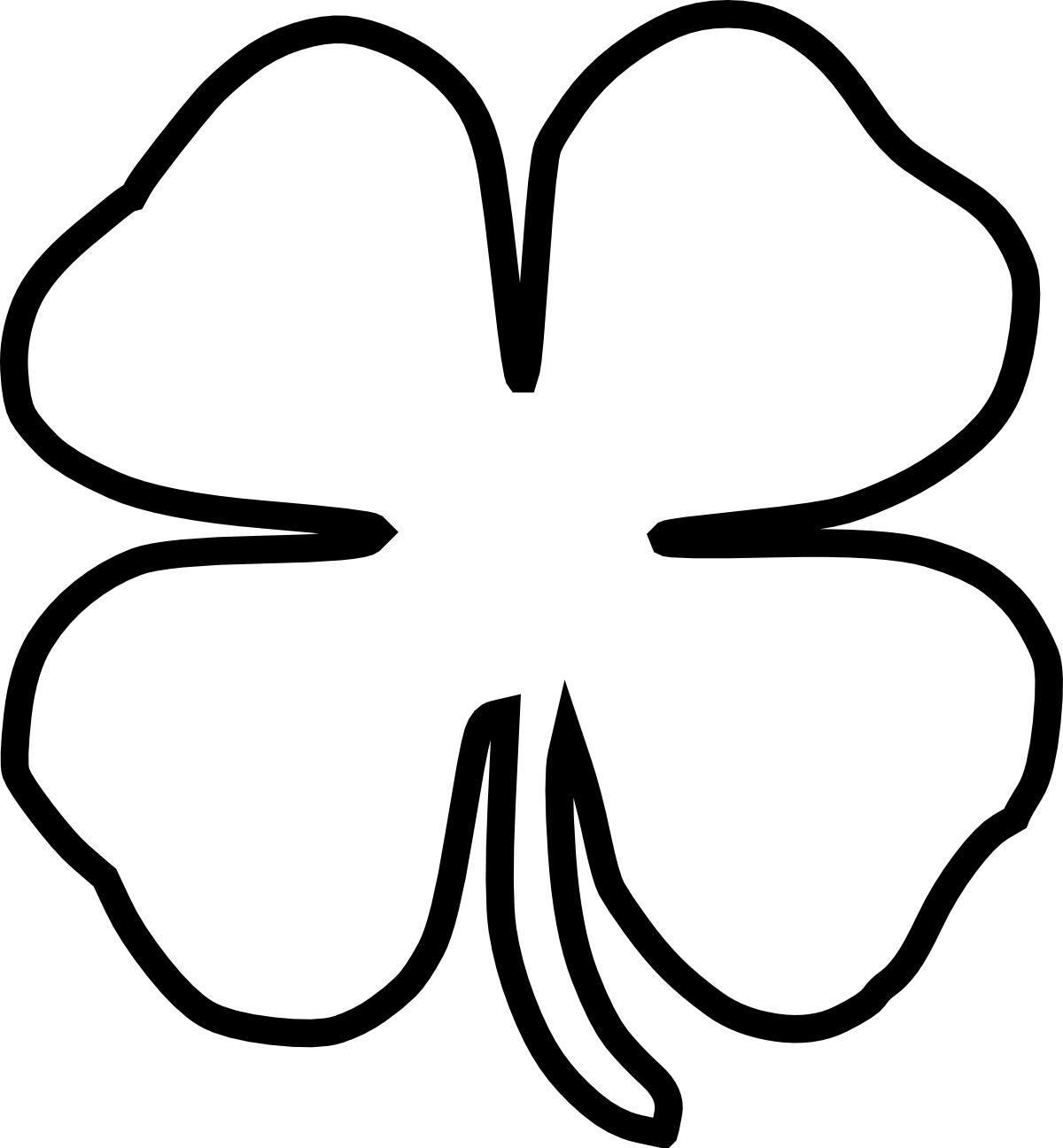 Four Leaf Clover Border Vector: AI and EPS Downloads