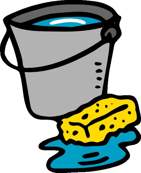 Cleaning Bucket Sponge Water clip art - vector clip art online ...